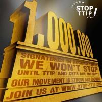 petice stop ttip dosáhla 1000000 podpisů