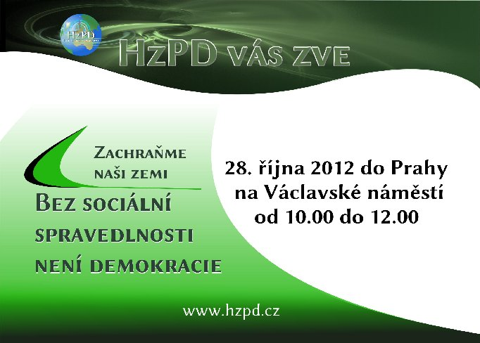 Demostrace 28.9. 2012