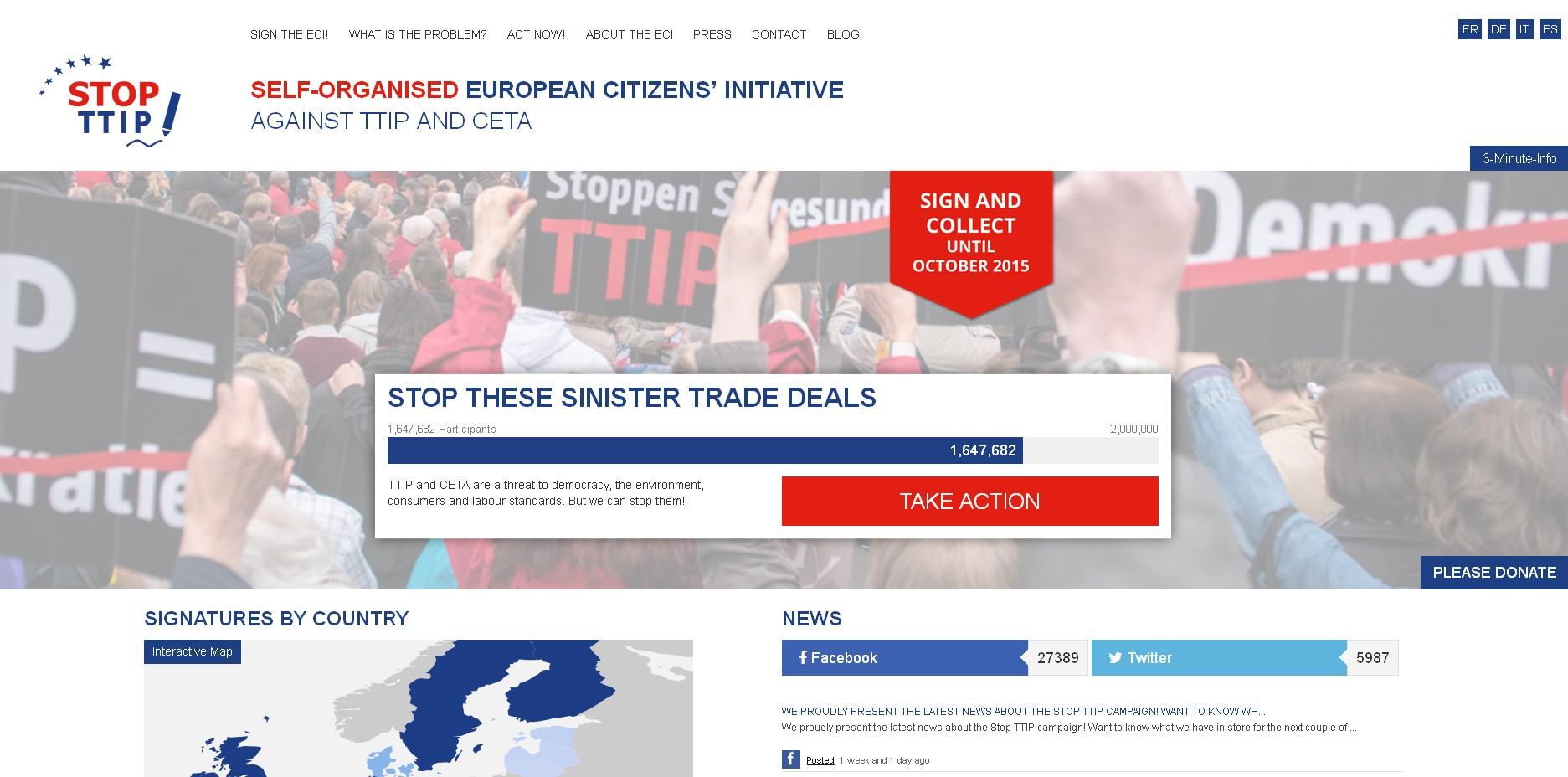 petice stop ttip dosáhla 16000000 podpisů